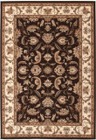 Stunning Formal Floral Design Rug Brown (ux)