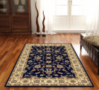 Classic Rug Blue with Ivory Border (ux)