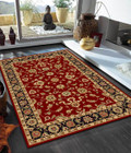 Classic Rug Red with Black Border (ux)