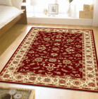 Classic Rug Red with Ivory Border (ux)