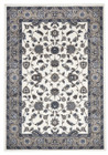 Classic Rug White with Beige Border (ux)