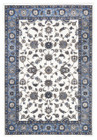 Classic Rug White with Blue Border (ux)