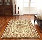 Medallion Rug Ivory with Ivory Border (ux)