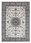 Medallion Rug White with Beige Border (ux)