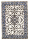 Medallion Rug White with Blue Border (ux)
