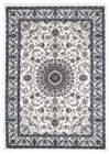 Medallion Rug White with White Border (ux)