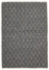 Luxury Madras Felted Wool Rug Blue Grey (ux)