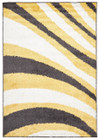 Burst Shag Rug Yellow and Charcoal (ux)