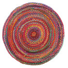 Chandra Braided Cotton Rug Multi (ux)