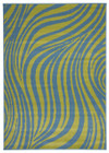 Beautiful Sway Blue & Green Rug - 230cm x 160cm (ux)