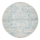 Glacier White Blue Transitional Rug (ux)