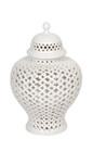 Minx Temple Jar - Small White (cl)