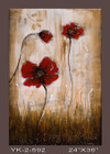 Frameless Hand Painted Oil Painting-flower 3 - 60x90cm