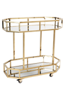 Brooklyn Drinks Trolley - Gold (cl)