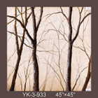 Frameless Hand Painted Oil Painting-trees 1 - 115x115cm