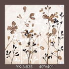 Frameless Hand Painted Oil Painting-flower 2 - 90x90cm