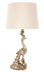 Peacock Table Lamp - Gold (cl)