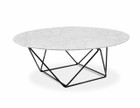 CCF1026 100cm Round Marble Coffee Table With Black Base (cf)
