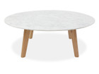 CCF1037 100cm Marble Round Coffee Table - Natural (cf)