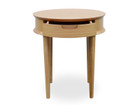 CCF692-VN Scandinavian Lamp Side Table with Drawers - Natural (cf)
