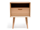 CCF695-VN SQ Wooden Bedside Table (cf)