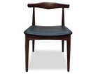 CDC181  Elbow Dining Chair - Dark Brown (cf)