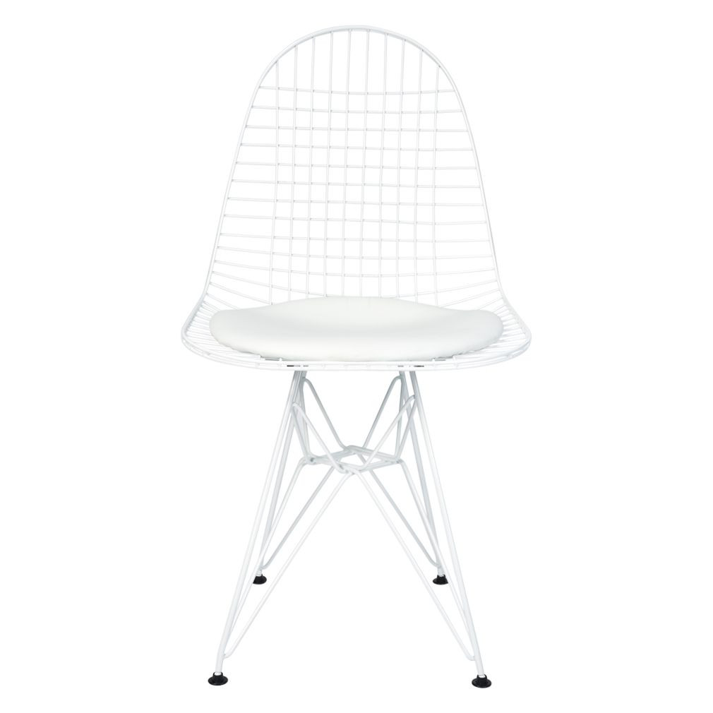Magnificent Replica Ray Charles Eames Eiffel Wire Chair Powdercoated White Various Colour Seat Cushion Only Customarchery Wood Chair Design Ideas Customarcherynet