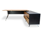 COT197-M 1.95m Executive Office Desk Right Return - Zebra Oak (cf)
