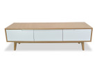CTV840-DW 1.5m Scandinavian Lowline TV Entertainment Unit (cf)