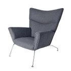 Replica Hans Wegner CH445 Wing Chair-grey wool