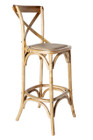 Cross Back Barstool - American Oak - Various Colours