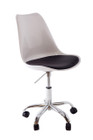 Replica Eero Saarinen Tulip Chair - White Plastic with wheels