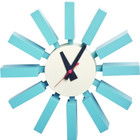 Replica George Nelson Block Clock - blue
