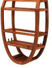Oval Teak Shower Caddy (hf)