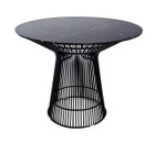 Replica Warren Platner - Wire Dining Table - Black Powdercoated - Marble Top - 120cm