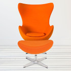 Replica Egg Chair & Egg Footstool Combo - Orange