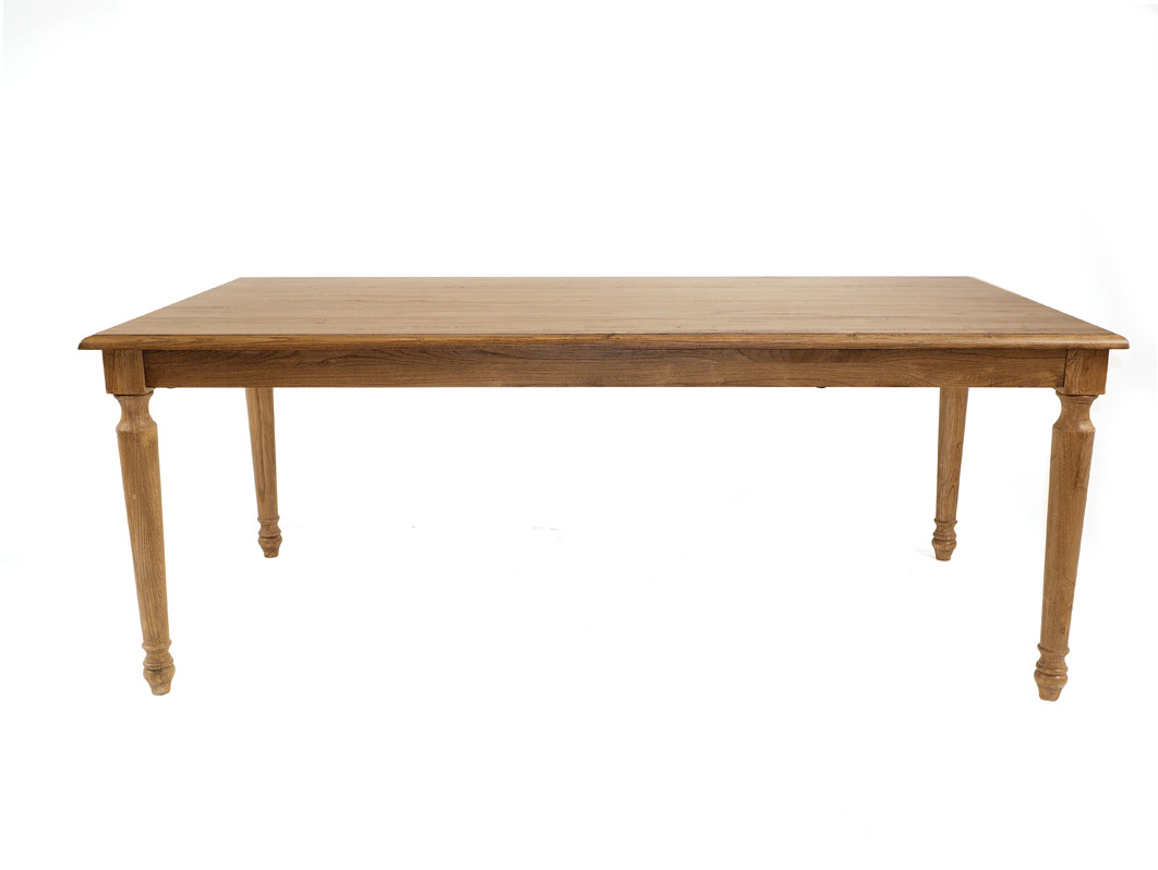 American Oak Timber Dining Table With Rounded Oak Legs. Price: $1,399.00.  Image 1
