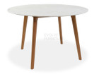 CDT1025 120cm Marble Dining Table - Natural Base (cf)