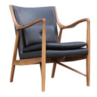 Replica Finn Juhl 45 Chair - Walnut Frame with Imitation of Leather