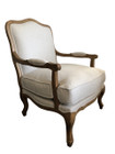 French Provincial Armchair - Natural Colour with American Oak Timber