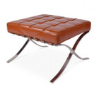 Replica Barcelona footstool-cognac Italian leather