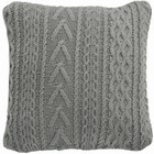 Light Grey Multi Cable Knitted Cushion (iv)