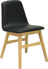 Avice Dining Chair Natural/Espress Pu Le (iv)
