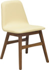 Avice Dining Chair Cocoa/Cream Pu Leathe (iv)
