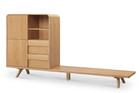Finley Display Tv Unit Ash Ven/Solid Leg (iv)