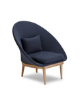 Riley Leisure Chair Blue/Ash Wood Legs (iv)