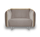Peyton Single Seater Sofa Grey/Yellow Piping (iv)