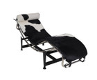 Replica Le Corbusier lounge LC4 with Black Cowhide leather