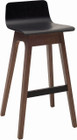 Ava Bar Stool Walnut/Blk Ash Veneer (iv)