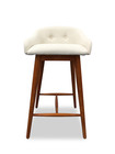 Dash Stool Ashwood Walnut/White Fabric (iv)